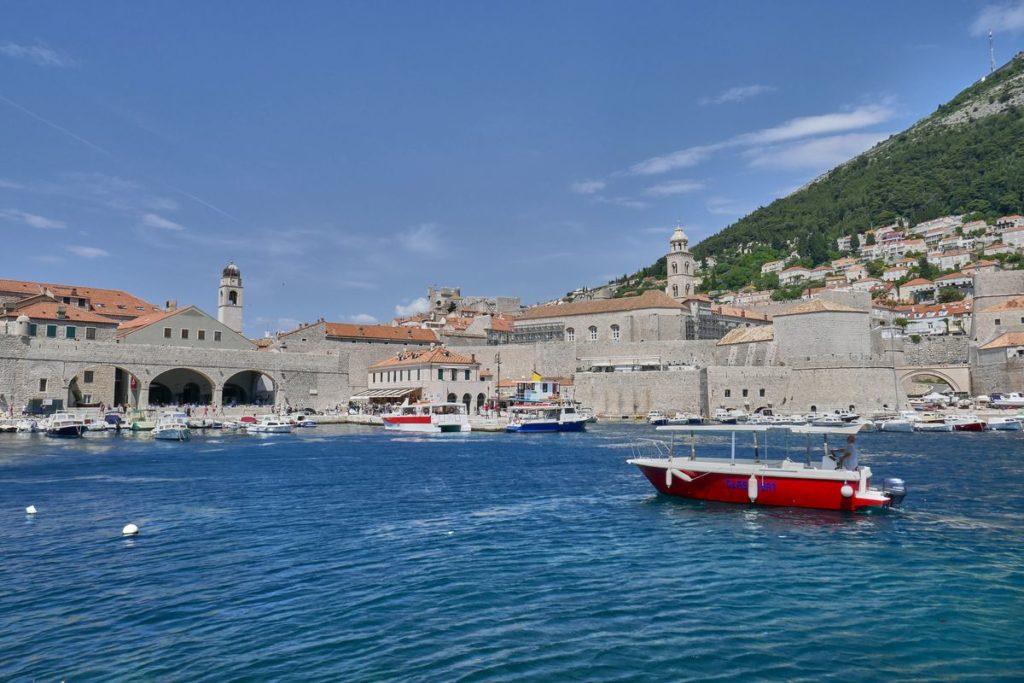 Dubrovnik Hafen Boot Kroatien