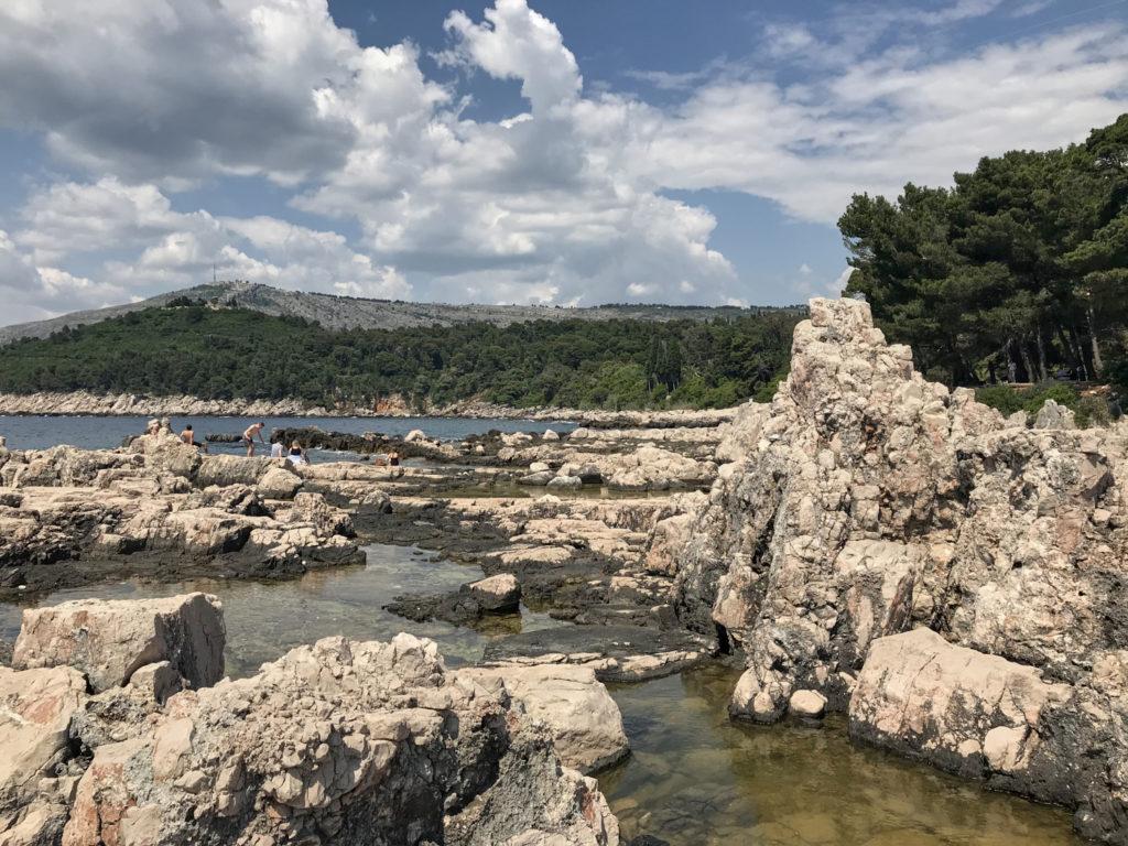 Felsenstrand Lokrum Dubrovnik Kroatien