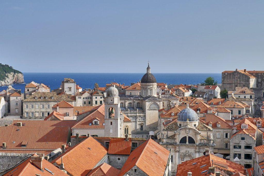 Kathedrale Altstadt Dubrovnik Kroatien Stadtmauer