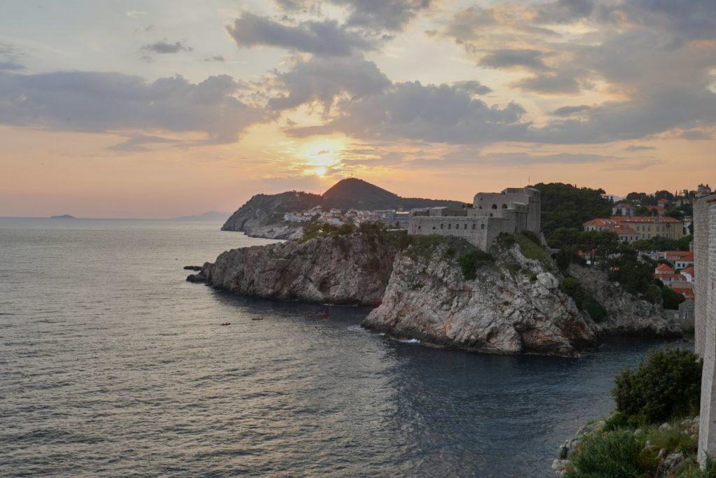Sonnenuntergang Stadtmauer Dubrovnik