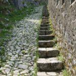 Aufstieg Stufen Festung Sveti Ivan Montenegro