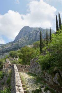 Aufstieg zur Festung Sveti Ivan, Kotor Montengro