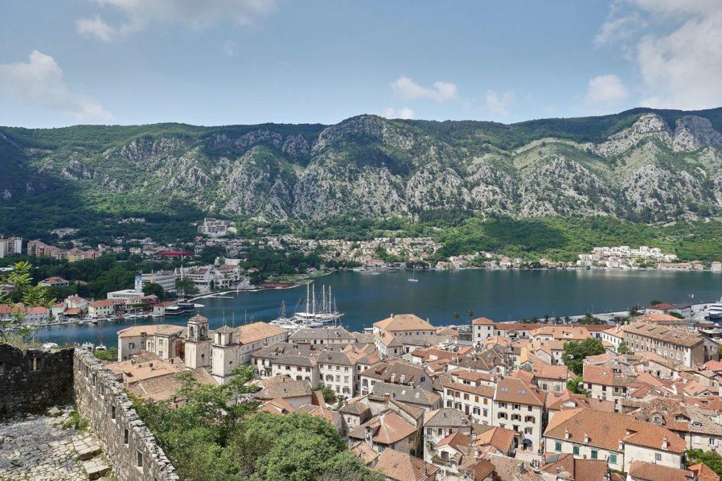 Aussicht Kotor Altstadt Hafen Montenegro