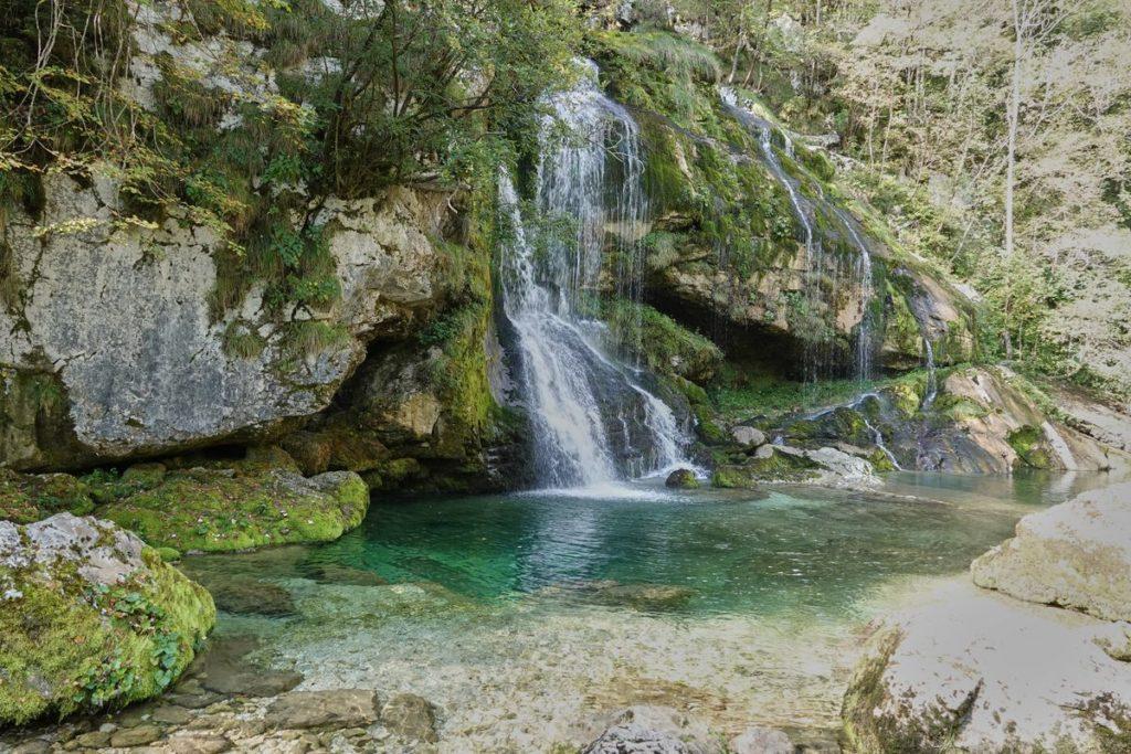Wasserfall Slap Virje Bovec Socatal Slowenien