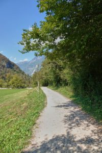 Weg zum Slap Kozjak Socatal Slowenien