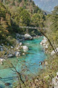 Hängebrücke Soca Triglav Nationalpark Slowenien