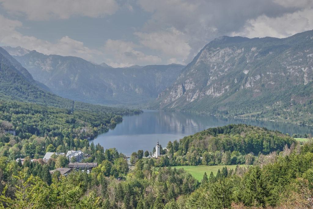 Bohinj See Slowenien Ausblick