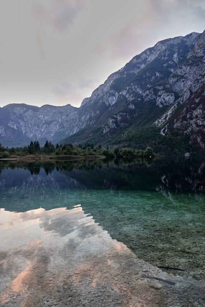 Abendstimmung Bohinj See Slowenien Triglav Nationalpark