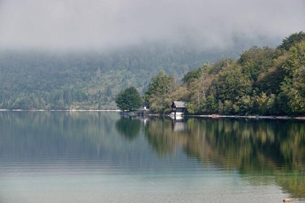 Bohinj See Bohinjsko Jezero Morgenstimmung Slowenien
