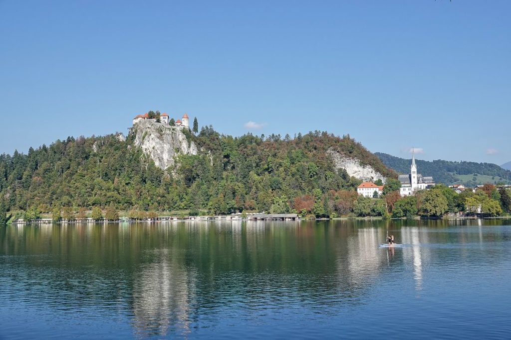 Bled See Burg Kirche Insel Slowenien
