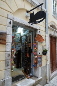 Kleiner Laden Krk Stadt Kroatien Souveniers