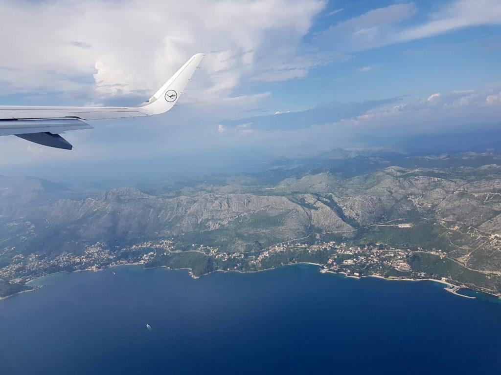 Flug Dubrovnik Kroatien