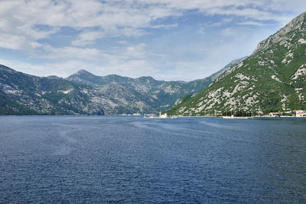 Aussicht auf die Insel Gospa od Srkpjela Kotor Montenegro