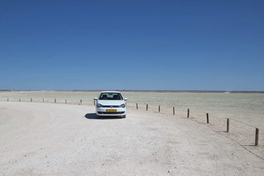 Mietwagen VW Polo im Etosha Nationalpark
