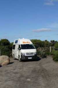 Britz Hitop Camper Tasmanien