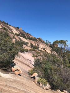Tasmanien Wineglass Bay Aufstieg