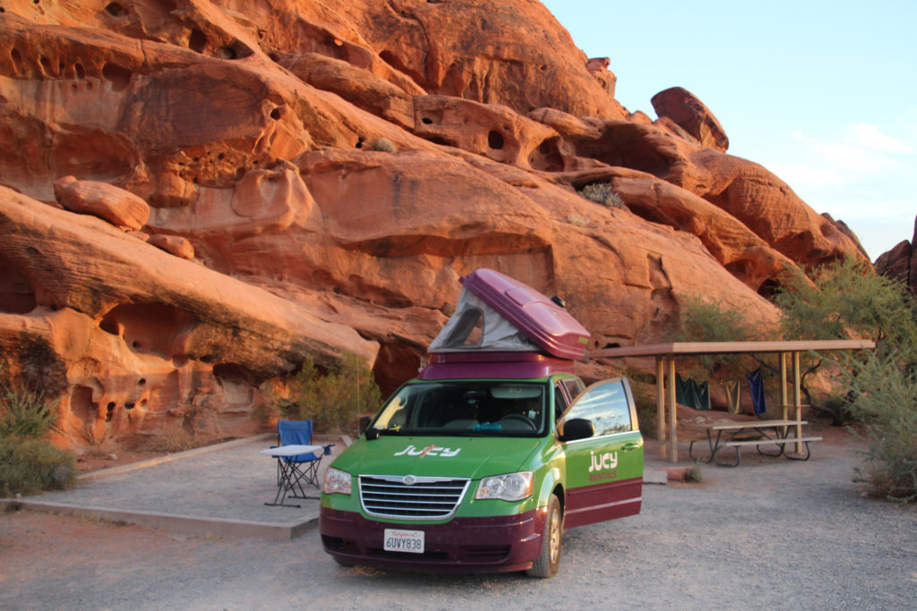 Unser Jucy im Valley of Fires