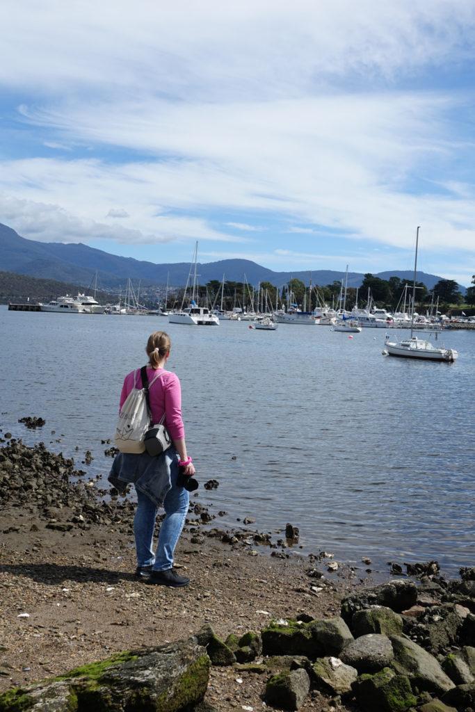 Hafen Lindisfarne Hobart Tasmanien