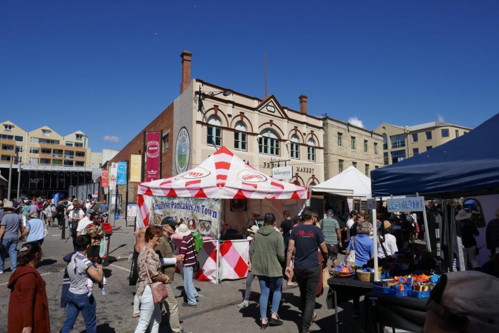 Salamanca Market Hobart Tasmanien Rundreise Camper