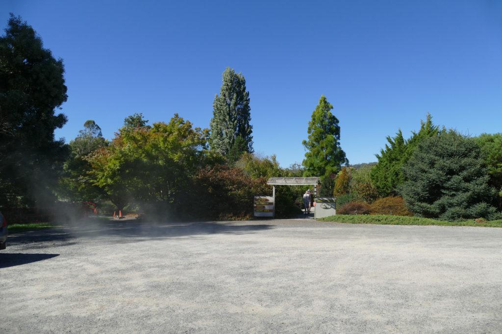 Tasmanian Arboretum Eingang