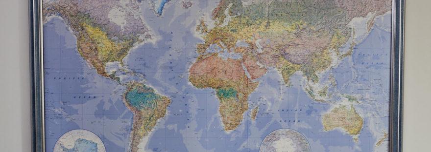 Weltkarte Geschenke Weltenbummler