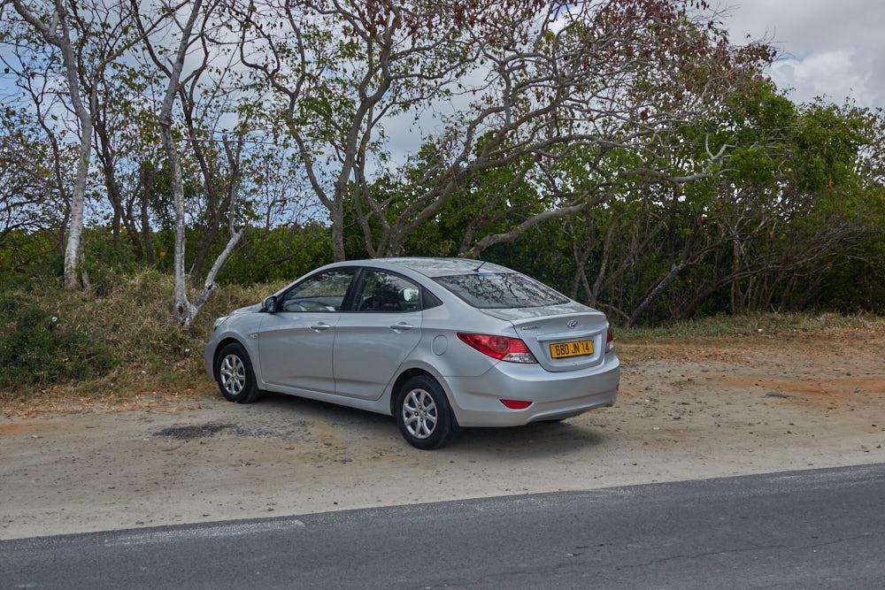 Mauritius Mietauto Parkplatz