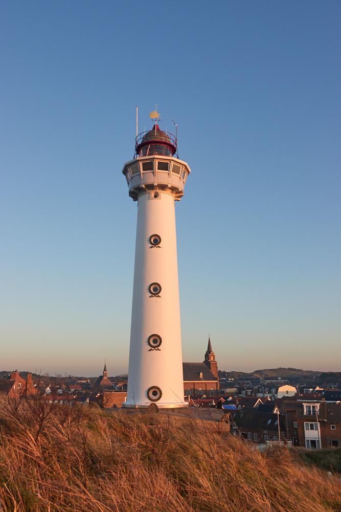 Wintercamping Holland Leuchtturm Egmond aan Zee