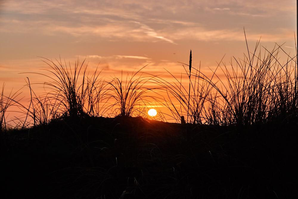 Sonnenuntergang Egmond aan Zee Wintercamping Holland