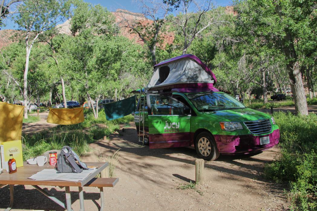 Zion Nationalpark Campingplatz USA Rundreise Westen