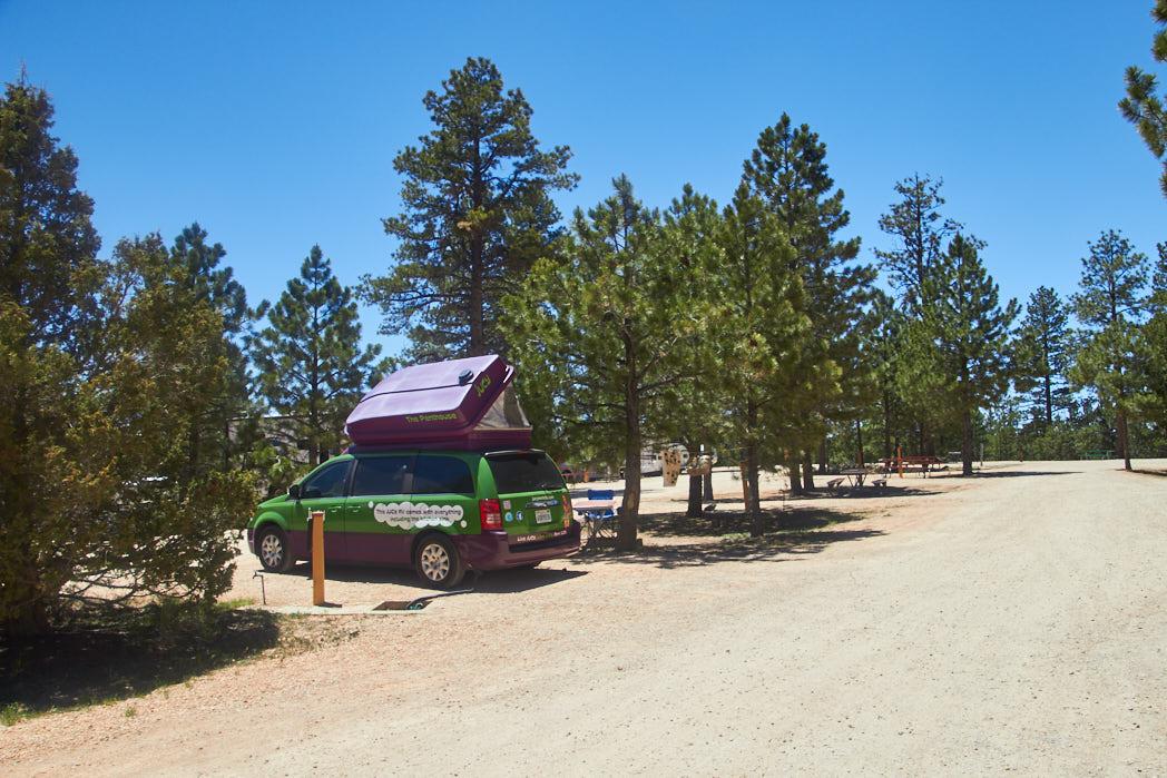 USA Rundreise Camper Campingplatz