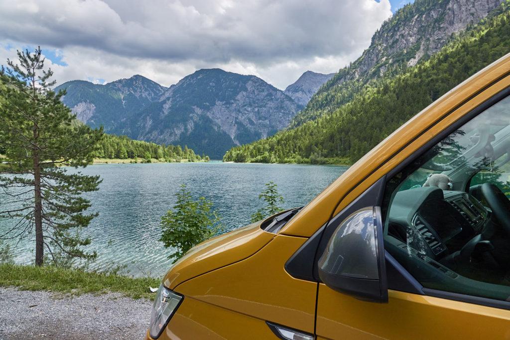 VW California am Plansee in Österreich
