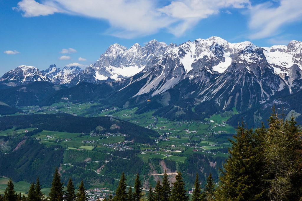 Ausblick Schladming Dachstein Region von der Planai aus