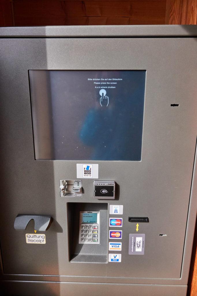 Kassenautomat Wohnmobilstellplatz Chiemsee